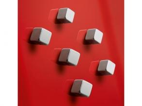 magneet voor glasbord Sigel 10x10x10mm vernikkeld sterk 4+2 stuks