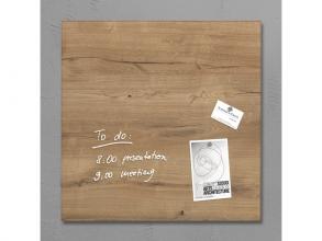 , glasmagneetbord Sigel Artverum 480x480x15mm Natural Wood