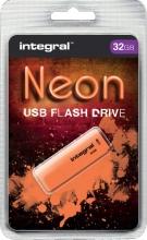 , USB-stick 2.0 Integral 32GB neon oranje