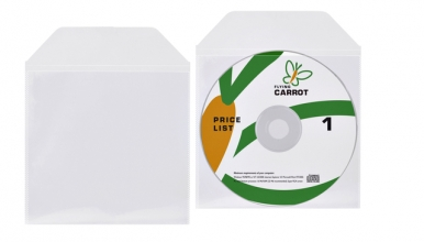 , DVD/CD hoes met klep 125x128mm bio degradable