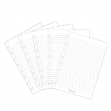 , Uitbreidingsset Correctbook A5 met 5 gelinieerde bladen