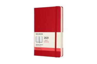 , Moleskine 12 MND Agenda - 2021 - Dagelijks - Large (13x21 cm) - Scarlet Rood - Harde Kaft