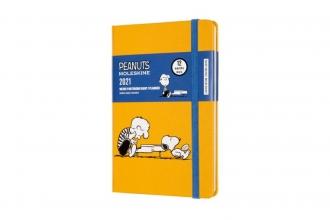 , Moleskine 12 MND Agenda - 2021 - LE Planner Peanuts - Wekelijks Notebook - Pocket (9x14 cm) - Piano