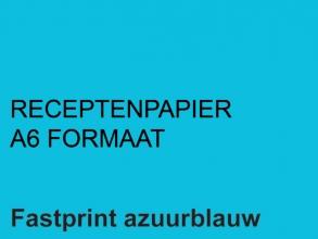 , Receptpapier Fastprint A6 80gr lichtblauw 2000vel