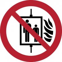 , Pictogram Tarifold in geval van brand verboden om de lift te gebruiken ø200mm