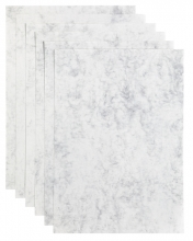 , Kopieerpapier Papicolor A4 200gr 6vel marble ivoor