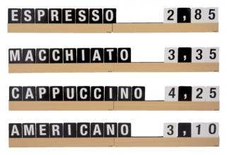 , Letterplank Securit 1 meter incl. set letters,cijfers, symbolen