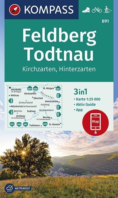 ,Feldberg, Todtnau, Kirchzarten, Hinterzarten 1:25 000
