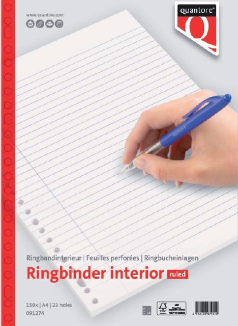 ,Interieur Quantore A4 23-rings lijn 150vel