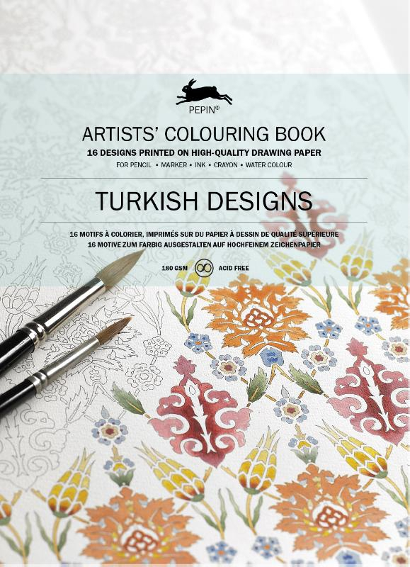 ,Artists colouring book Turkish designs