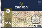 ,Aquarelblok Canson 12.5x18cm 12V 300gr fijn spiraal