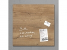 ,glasmagneetbord Sigel Artverum 480x480x15mm Natural Wood