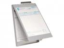 ,klembord Westcott met opbergvak aluminium A4 (9`x 12`) open