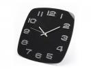 F7045r1 ,Wandklok Glazen Design Zwart