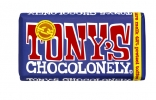 ,Chocolade Tony`s Chocolonely reep 180gr donker melk pretzel toffee