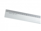 <b>aluminium liniaal 100 cm Aristo met rubber inleg</b>,