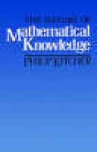 Philip Kitcher The Nature of Mathematical Knowledge