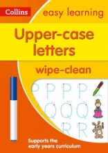 Collins Easy Learning Upper Case Letters Age 3-5 Wipe Clean Activity Book