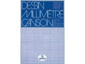 , Millimeterblok Canson A3 blauw