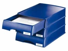 , Brievenbak Leitz 5210 Plus blauw met lade
