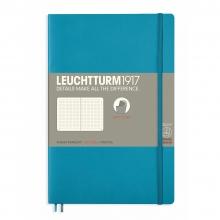 Lt358315 , Leuchtturm notitieboek softcover 19x12.5 cm bullets/dots/puntjes nordic blue