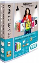 , Presentatieringband Oxford Polyvision Maxi A4 XL 4-rings D-mech 25mm transparant