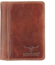 Ma-480-260-33 , Maverick dalian ii rfid-blocking portemonnee leer donkerbruin