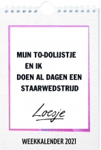 , WEEKKALENDER 2021 LOESJE  - FSC MIX CREDIT