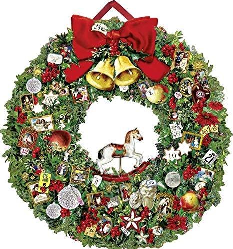 ,Festlicher Weihnachtskranz Adventskalender