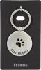 444326-10 , Sleutelhanger rond metaal best friend (hondenpoot)