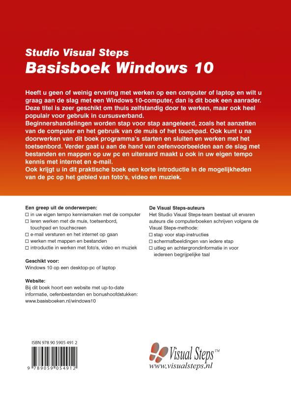 Uithoorn Studio Visual Steps,Basisboek Windows 10