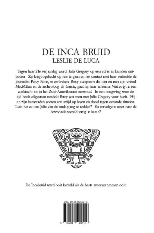 L. Leslie de Luca, J. Jan Maas,De Inca Bruid