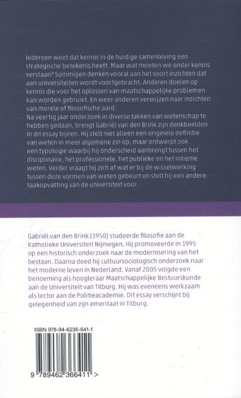 Gabriël van den Brink,Hoe wij beter over kennis kunnen nadenken