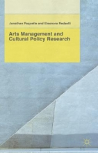 Paquette, Jonathan,   Redaelli, Eleonora Arts Management and Cultural Policy Research