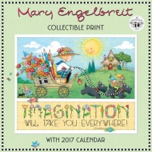Mary Engelbreit`s 40th Anniversary Collectible Print With 2017 Calendar