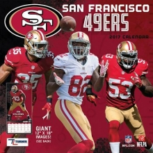 Cal 2017 San Francisco 49ers 2017 12x12 Team Wall Calendar