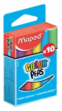 , Schoolbordkrijt Maped Color`Peps assorti stofvrij