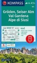 , Gröden, Seiser Alm, Val Gardena, Alpe di Siusi 1:25 000