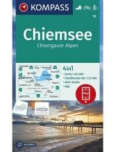 Kompass-Karten Gmbh , Chiemsee, Chiemgauer Alpen 1:50 000
