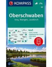 KOMPASS-Karten GmbH , KOMPASS Wanderkarte Oberschwaben, Isny, Wangen, Leutkirch 1:50 000