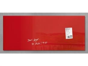 , glasmagneetbord Sigel Artverum 1300x550x15mm rood
