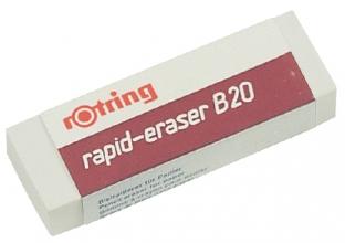 , Gum rOtring B20 65x23x10mm potlood wit