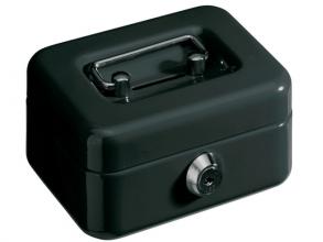 , geldkistje Alco 125x95x60mm staal met gleuf zwart