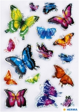 , Etiket Herma vlinder 3D vleugeleffect