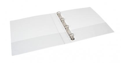 , Presentatieringband Quantore A4 4-rings D-mech 25mm wit