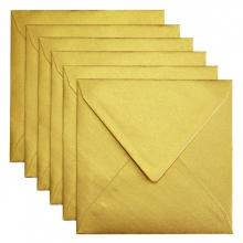 , Envelop Papicolor 140x140mm metallic goud