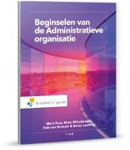 Mark  Paur, Marc  Mittelmeijer, Rob van Stratum, Berco  Leeftink Beginselen van de Administratieve organisatie