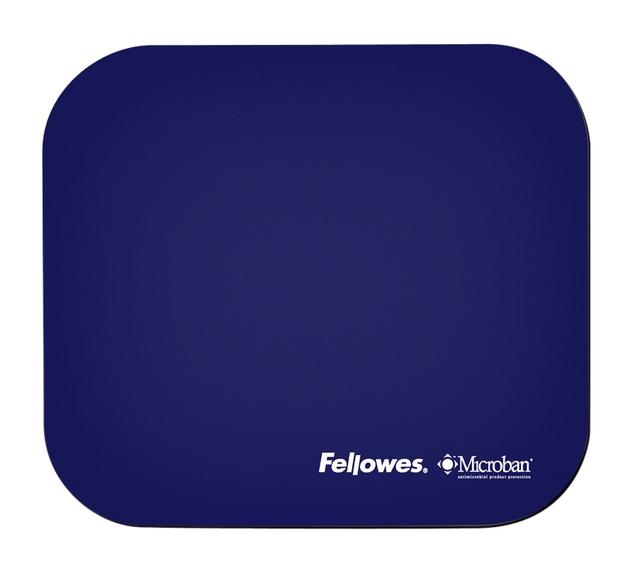 ,Muismat Fellowes Microban antibacterieel blauw