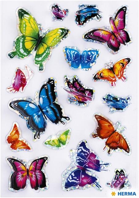 ,Etiket Herma vlinder 3D vleugeleffect