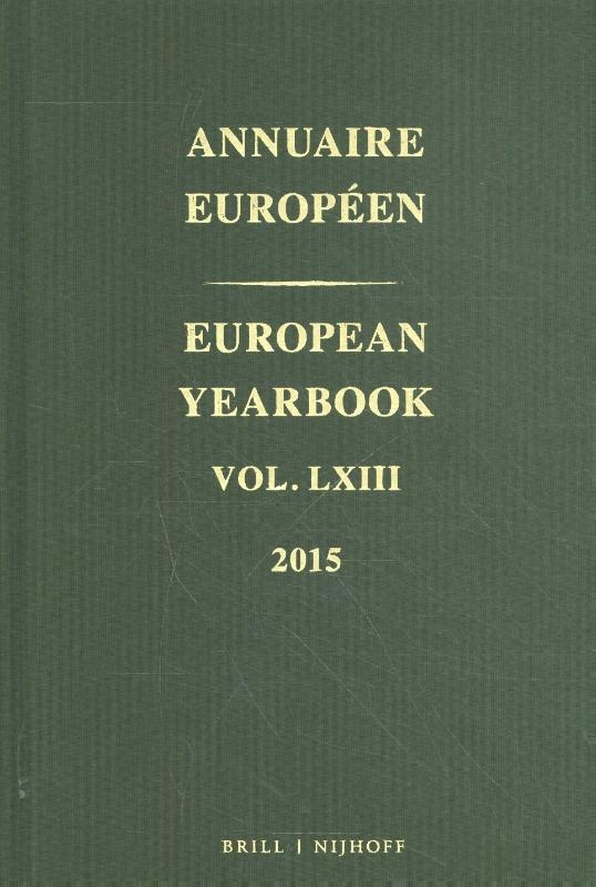 Council of Europe,European Yearbook Annuaire Européen, Volume 63 (2015